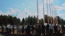 Keuruun ison teltan pystytys 2008, vastuu Pirkanmaan seurakunnilla